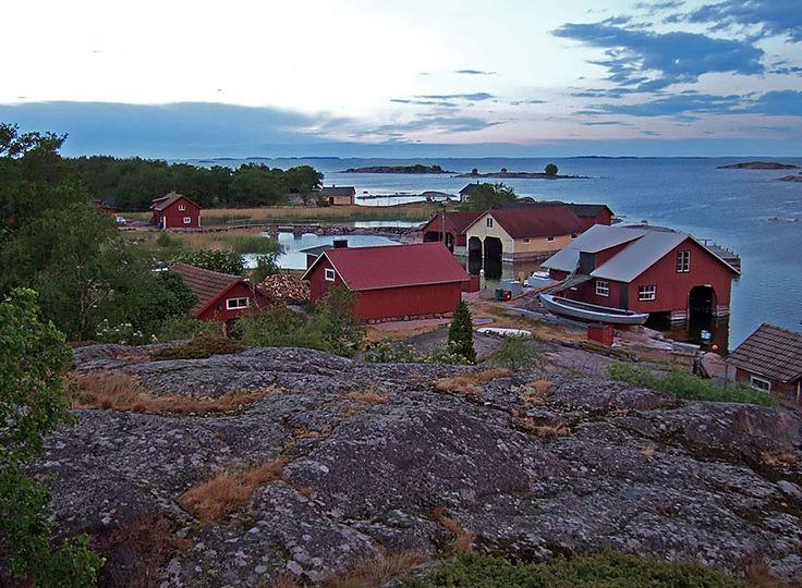 Sunset in Börstö,Nauvo, Finland coast.