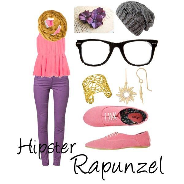 Hipster rapunzel.