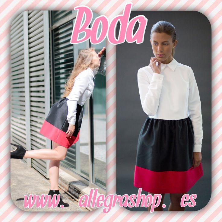Otro look ideal para una de día con manga larga y falda con vuelo.  Disponible en www.allegrashop.es #nubbe