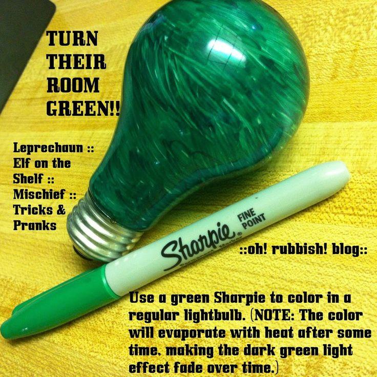 :: Turn Their Room GREEN :: Elf on the Shelf Pranks :: St Patrick's Day Pranks :: - oh! rubbish! blog