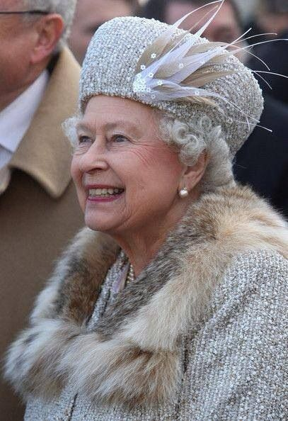 Queen Elizabeth  -  I love this picture, our Queen is smiling genuinely and it shows.  -  ldcd