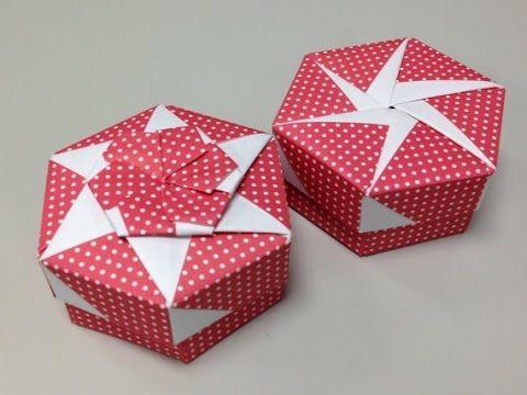 Hexagonal Gift Box - origami . Подарочная коробочка - шестигранная