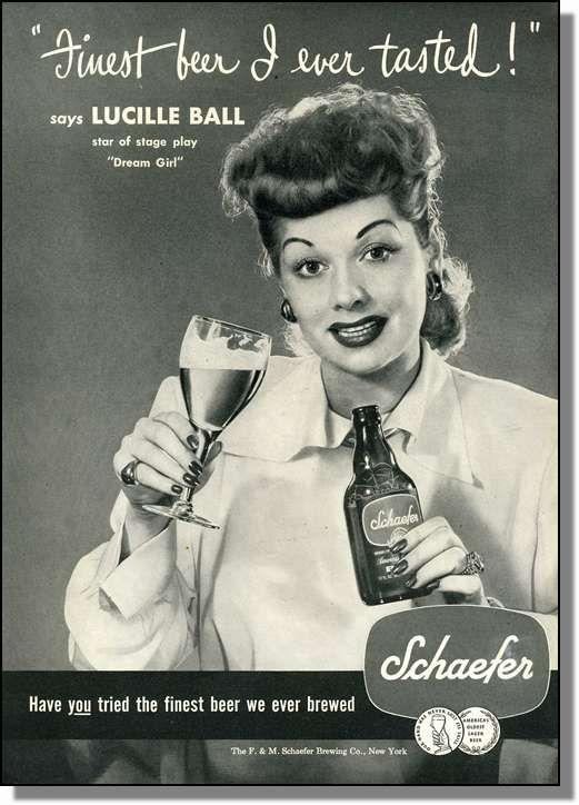 Lucy Loves Schaefer Beer