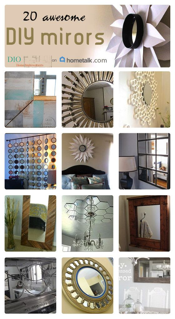 Check out these 20 gorgeous DIY mirrors that are sure to add class and character to your home decor!