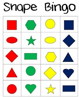 have attributes as the calling cards and they have to ID the shape. 2-d and 3-d. also angles.