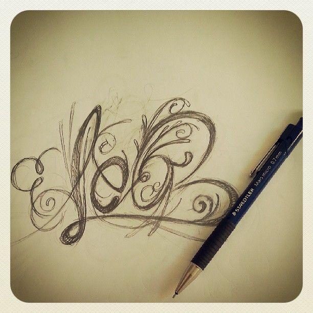 Sketch Tattoo Leo Pencil Name Freehand Killtime