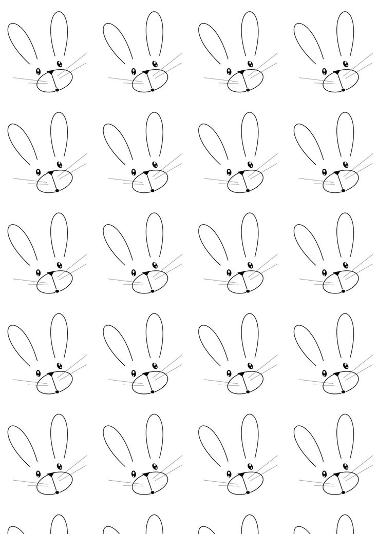 FREE printable bunny pattern paper   #blackandwhite