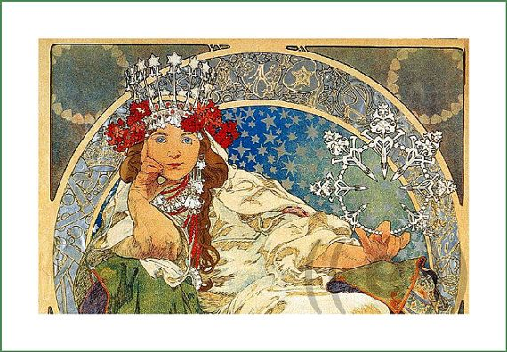fabric panel - painting by Alphonse Mucha (18)