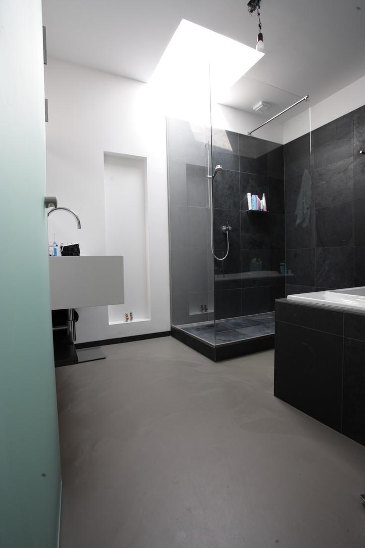 betonlook gietvloeren voor uw badkamer het levendige. Black Bedroom Furniture Sets. Home Design Ideas