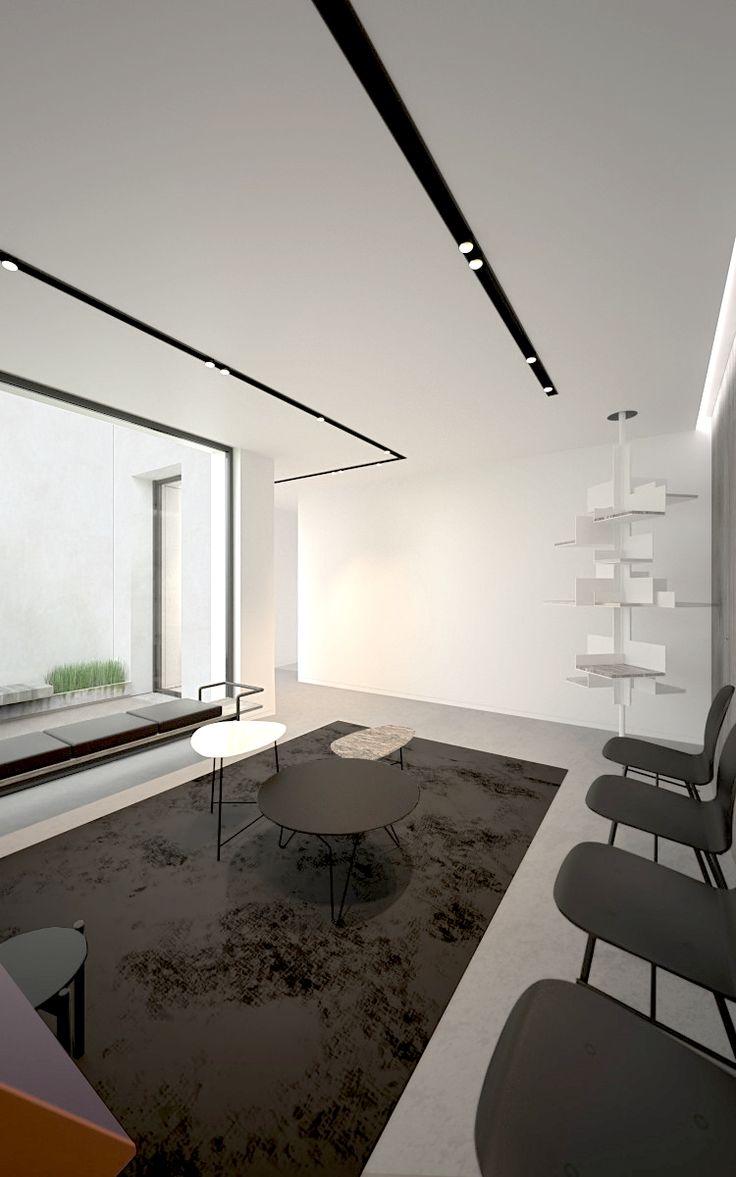 living room track lighting%0A Ar  en Dockx interieurarchitect
