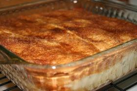 Apple and Cream Cheese Dessert Crescent Rolls, Pie Filling, cream cheese, sugar, cinnamon.