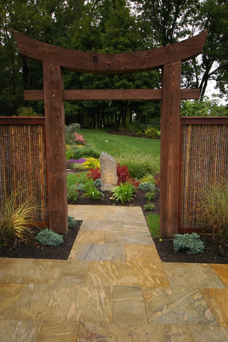 Front Archway   Note The Bamboo Fencing · Chinesischer GartenDiy  GartenGarten IdeenChinesische MalereiGartenkunstTeichePflanzenDekoration Japanische