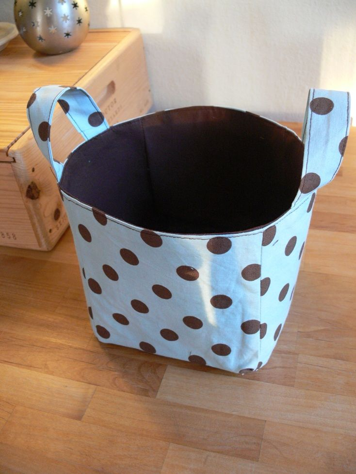 Fabric basket this would be great for the kids rooms for Baskets for kids room