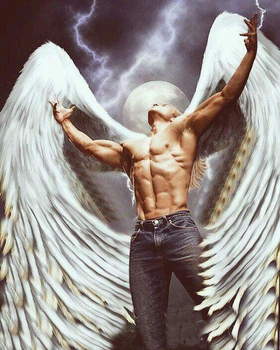Красивая картинка ангела мужчины