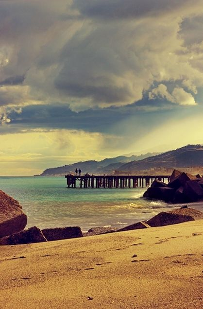 Beautiful Winter Afternoon, Messina, Sicily, Italy. Our article on 19 of the best European beaches: http://www.europealacarte.co.uk/blog/2011/03/28/best-beaches-europ