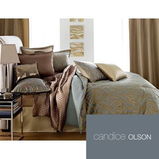 @Overstock.com.com - Candice Olson Entice 4-piece Comforter Set (Euro Shams Sold Separately) - Candice Olson bedding offers the luxury touches of a high end designer. Entice features an allover grille pattern reversing to a soft stripe aqua print.  http://www.overstock.com/Bedding-Bath/Candice-Olson-Entice-4-piece-Comforter-Set-Euro-Shams-Sold-Separately/8372752/product.html?CID=214117 $25.99
