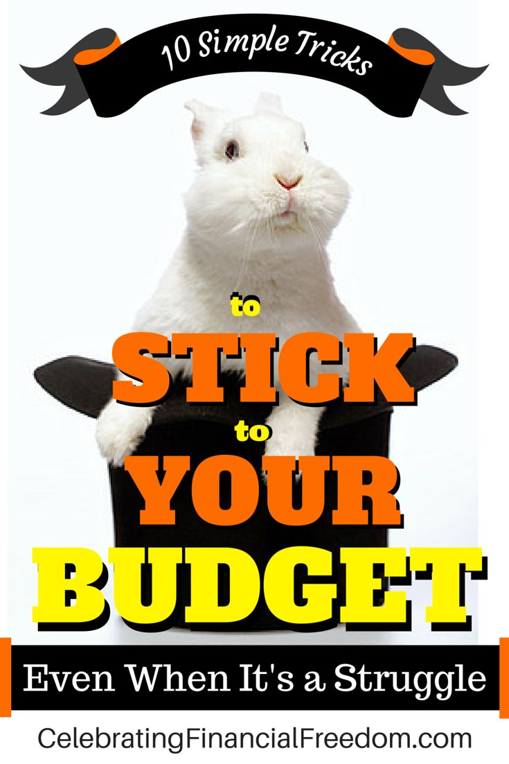 Sometimes it's hard to stick to a budget!  Use these 10 Simple tricks to stay on track, especially when you're getting out of debt…  #budget #budgeting #money #finance  http://www.cfinancialfreedom.com/simple-tricks-stick-to-budget-struggle