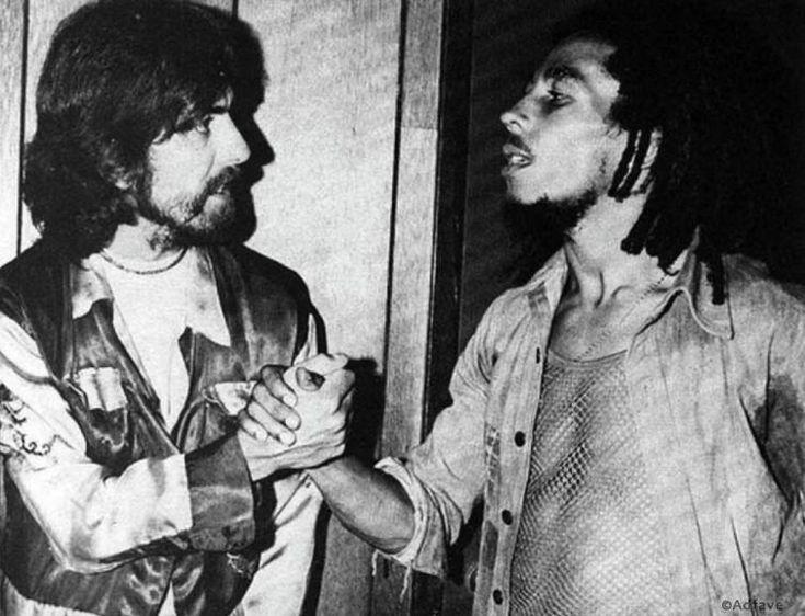 Джордж Харрисон и Боб Марли, 1975 год
