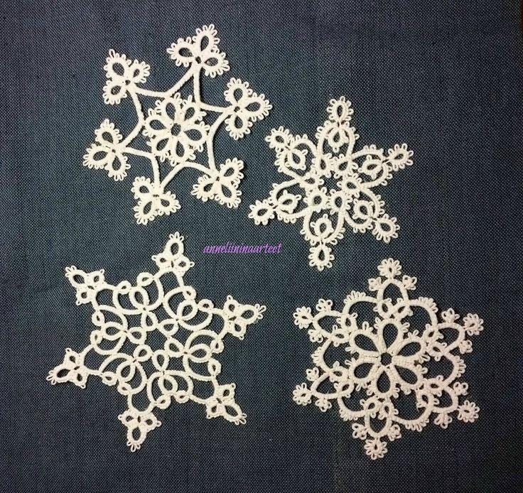 käpypitsi lumihiutaleita - tatted snowflakes