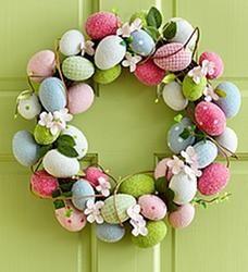 Easter Egg Wreath $39.99