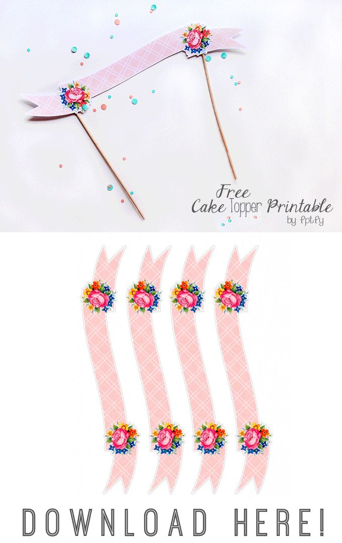 FREE printable rose cake banner (- perfect for mother's day ^^)