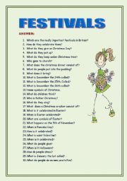 English Worksheets: festivals in Britain