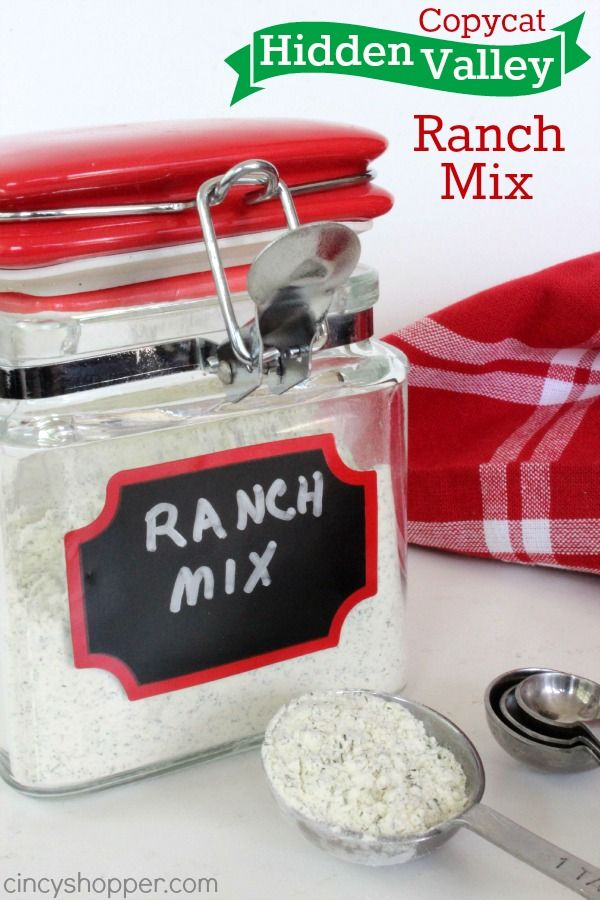 Copycat Hidden Valley Ranch Mix Recipe. So simple to make at home. Great for dips, dressing and for cooking with main dishes. Saves $$'s too!