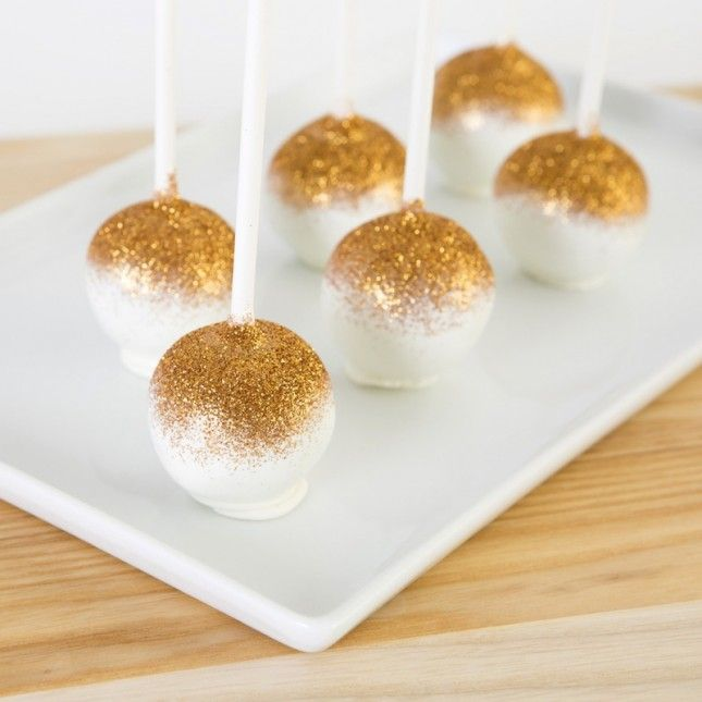 Don't forget the glittered cake pops for your Ultimate New Year's Eve Party!