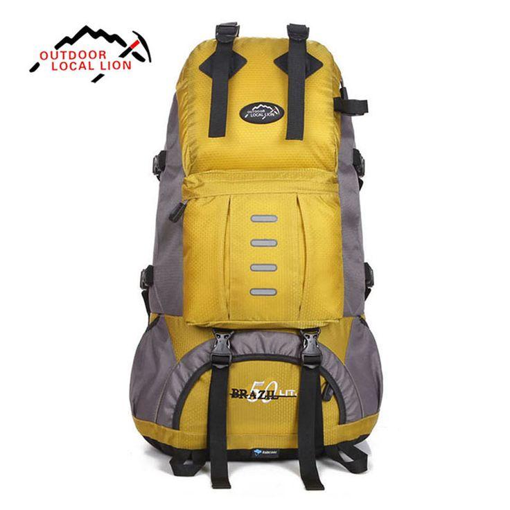 Outdoor Sport Bag LOCAL LION 50L Mountaineering Hiking Backpack Waterproof Trekking Climbing Bags for Men Women Travel Trekking