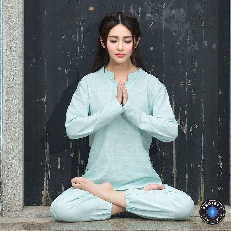 Comfortable 2-Piece Loose Cotton Linen Meditation Tai Chi Clothing Set