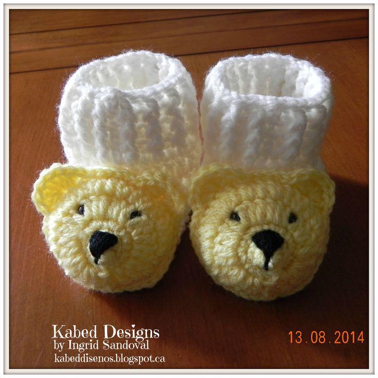 Excelente Botines Niño Crochet Patrón Libre Ornamento - Manta de ...