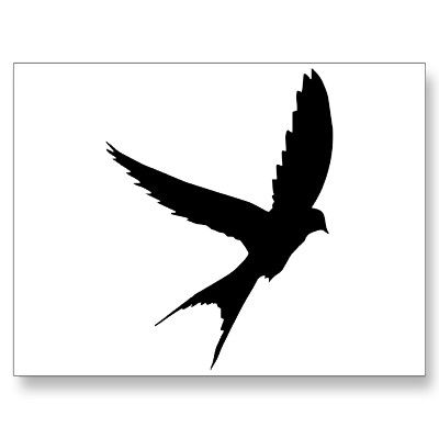 Sparrow Silhouette Flying Swallow Silhoue...