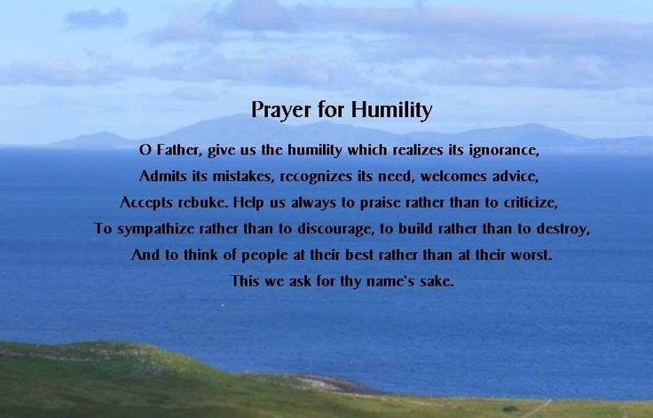 Prayer For Humility A Character Trait Of Our Lord Jesus