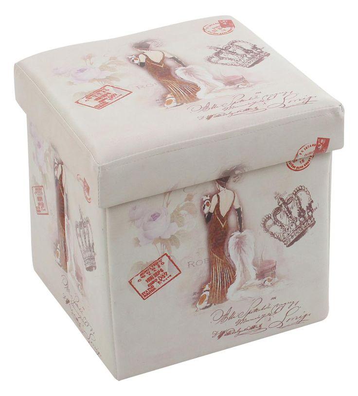 """Taburetul-cutie de depozitare """"Daisy"""", parte dintr-o noua serie de taburete venite pe rafturile Retro Boutique."""