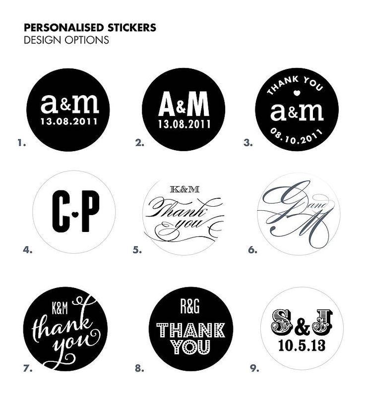 35 Personalised Stickers