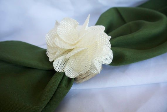 Rustic Napkin Rings, Wood Napkin Holder, Burlap Flower Table Decor, Jute Twine Napkin Rings, 2