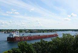 Lazy days in the summer watching big ships go by at the beautiful St. Lawrence River!