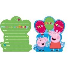 Party Invite - 6 Peppa Pig