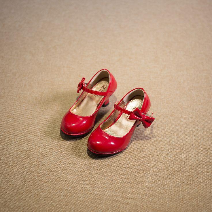 2016 letní děti dívky na vysokém podpatku Zvýšení sandlas děti Boty pro VOLNÝ Čas dívky PU Princess luk boty (Čína (pevninská část))