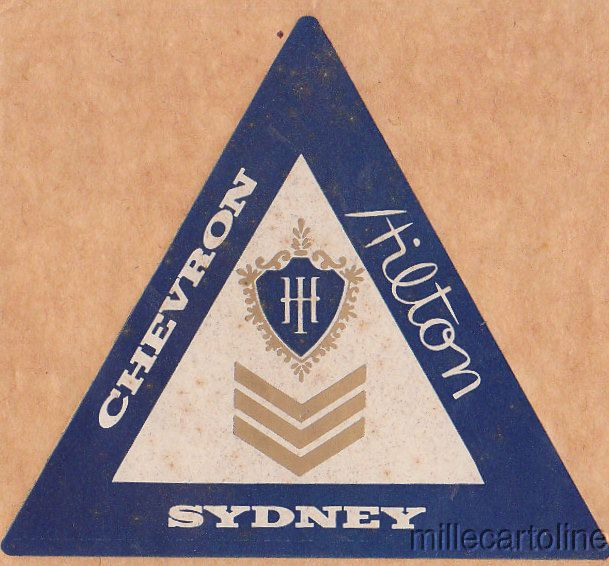 Chevron Hilton Hotel Sydney Label