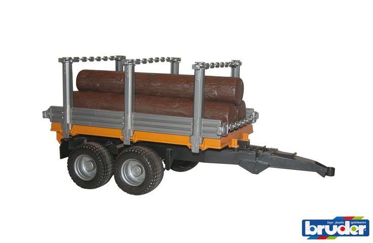 Vagn med stockar