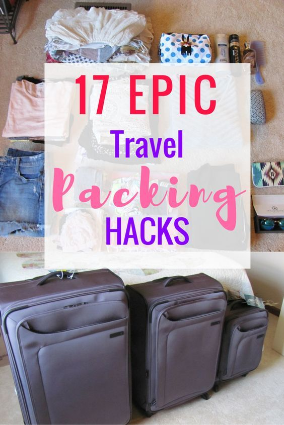 17 Travel Packing Hacks to Change the Way You Pack  I am very type-A when it comes to packing. I must have things SO organized and always want to have lots of room to shop, so I never over pack. I have gotten pretty good at packing and wanted to share my travel packing hacks with you!