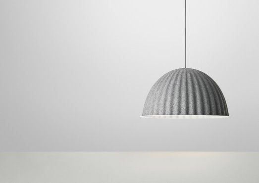Under The Bell BY MUUTO MATERIAL PET polymer felt COLOURS black, grey DIMENSIONS height 46 cm, Ø 82 cm MAX WATTAGE 30W