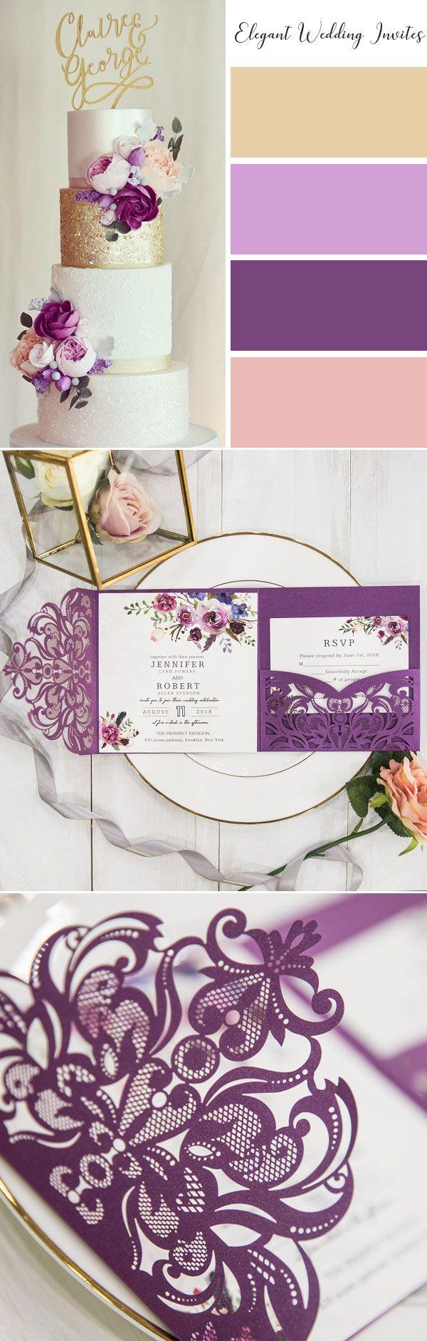 141 Best Purple Wedding Colors Images By Elegantweddinginvites On