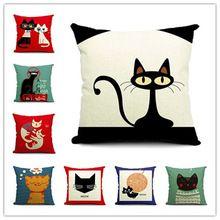 2015 Cat Style moda de nueva cojín gato almohada impresión cama sofá Home almohada decorativa Fundas párr Almofadas Cojines(China (Mainland))