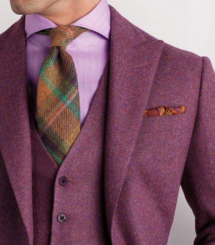 Very Nice Colour Styling!!! I Love The Tartan Tie!!!