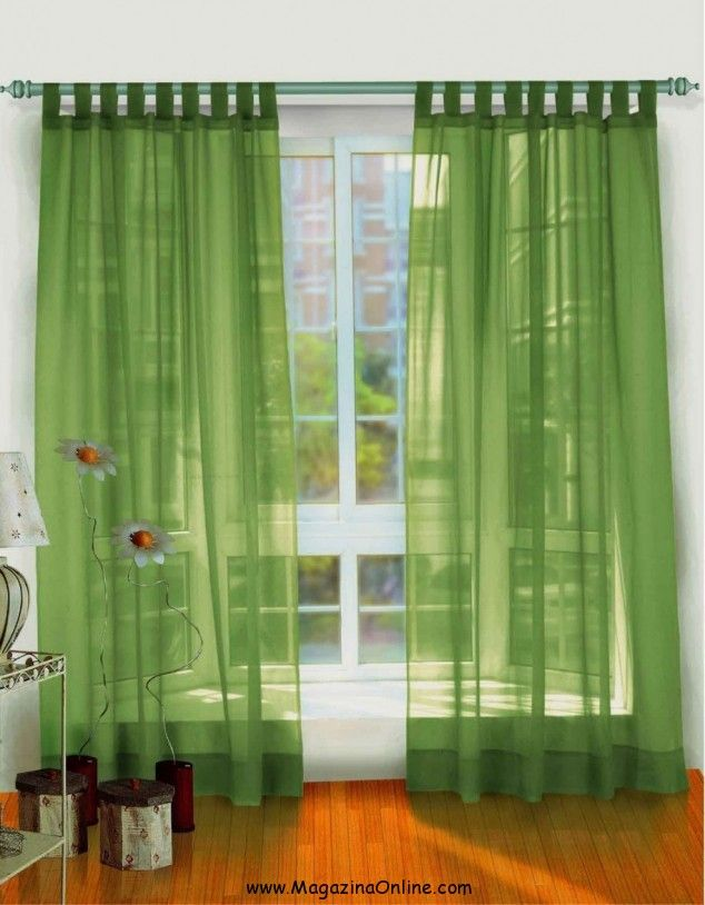 Gorgeous Curtain Designs For Windows With Attractive Colors: Amazing Glass  Panel Green Modern Style Bright Accents Curtain Designs For Windo.