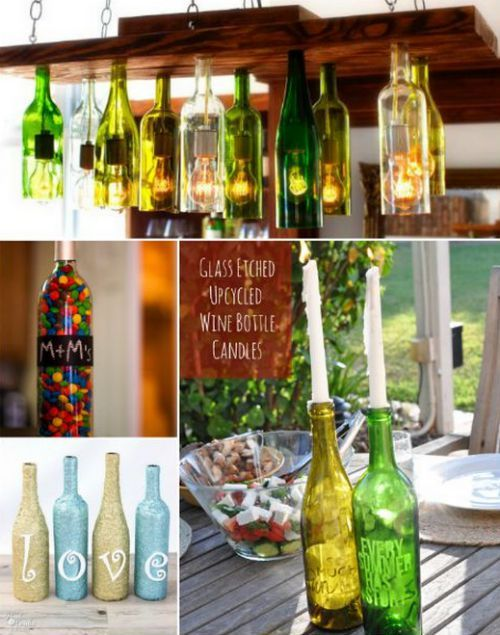 1000 ideas about empty wine bottles on pinterest wine for Fun things to do with wine bottles