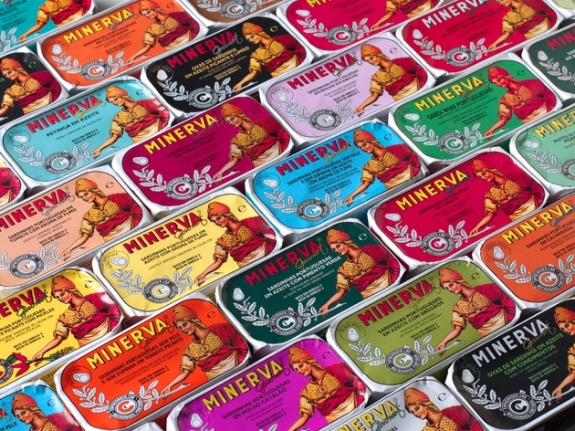Minerva  70 years of wisdom. Who doesn't love a good sardine #packaging PD