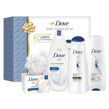 Dove Deep Moisture Holiday Gift Set 54 Oz Walmart Com Beauty Bar Dove Beauty Bar Shower Puff